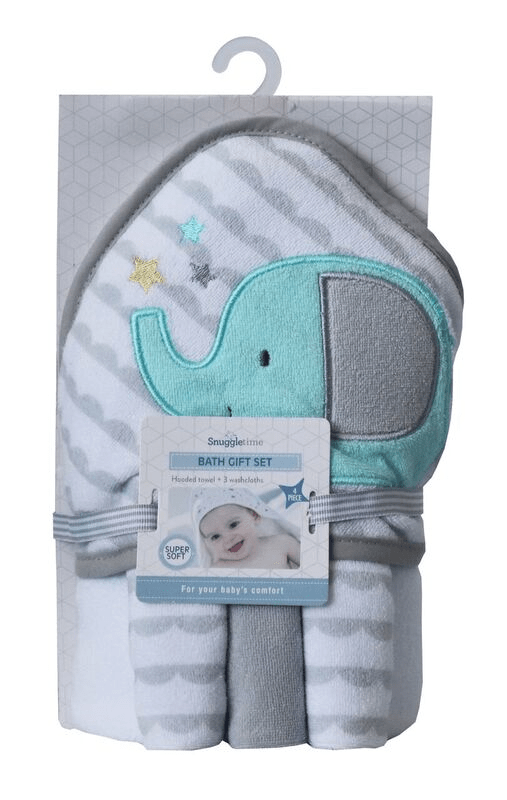 Snuggletime Baby Snuggletime Hooded Towel Gift Set Elephant 6006759005284 230878