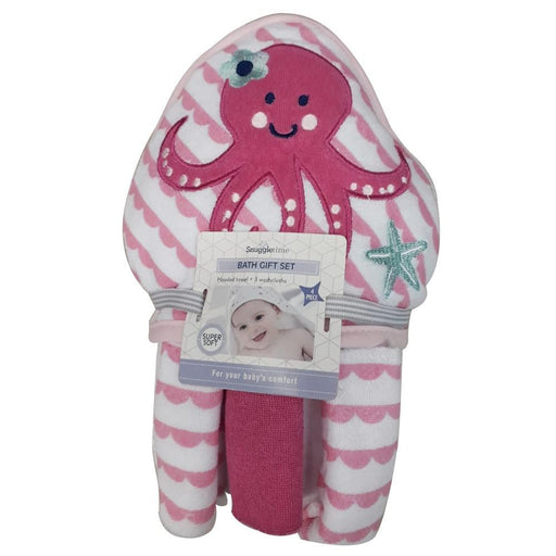 Snuggletime Baby Snuggletime Hooded Towel Gift Set Octopus 6006759005048 230881