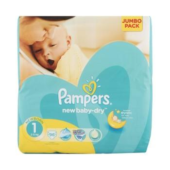 Pampers New Baby Newborn Nappies, 96's