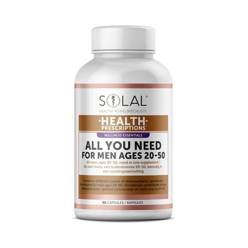 Solal Vitamins Solal All For You For Men 20-50 Tabs, 90's 6009663999984 232371