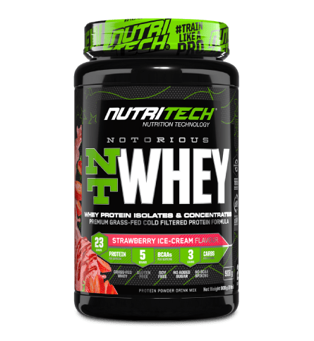 Nutritech Sports Nutrition Strawberry Ice Cream Nutritech Notorious NT Whey Protein Assorted, 908g 6009708963154 234442