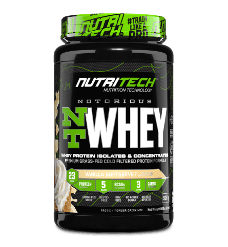 Nutritech Sports Nutrition Vanilla Soft Serve Nutritech Notorious NT Whey Protein Assorted, 908g 6009708963161 234462