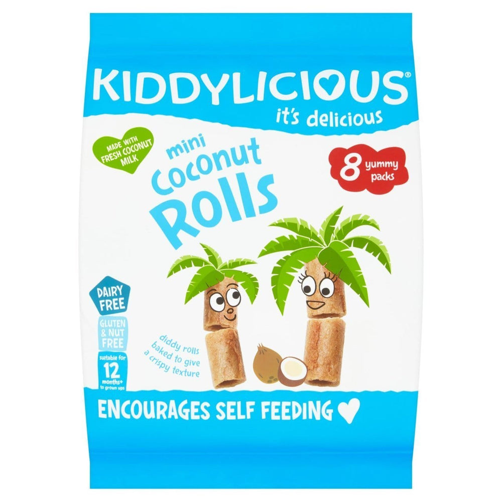 Kiddylicious Baby Kiddylicious Mini Coconut Roll 12m+ 5060040254172 234576