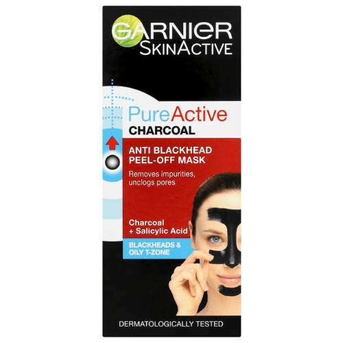 Garnier Beauty Garnier Pure Active Charcoal Anti-Blackhead Peel-Off Mask, 50ml 3600542168595 234869