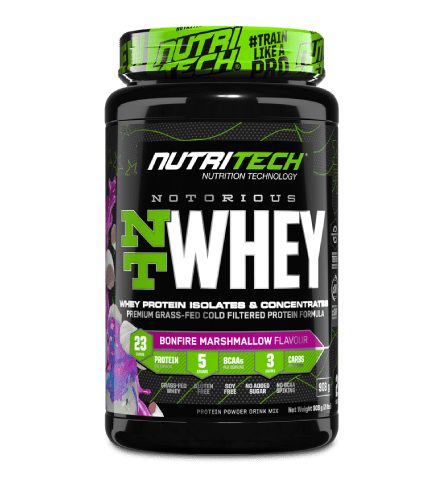 Nutritech Sports Nutrition Bonfire Marshmallow Nutritech Notorious NT Whey Protein Assorted, 908g 6009708963178 235107