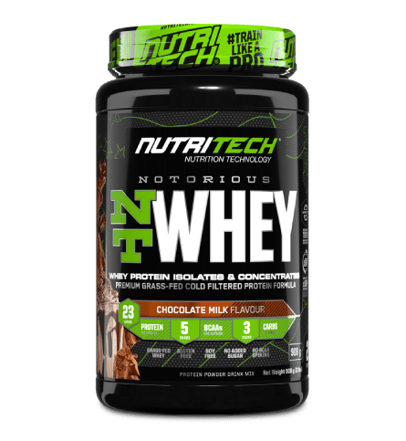 Nutritech Sports Nutrition Chocolate Milk Nutritech Notorious NT Whey Protein Assorted, 908g 6009708963093 235422
