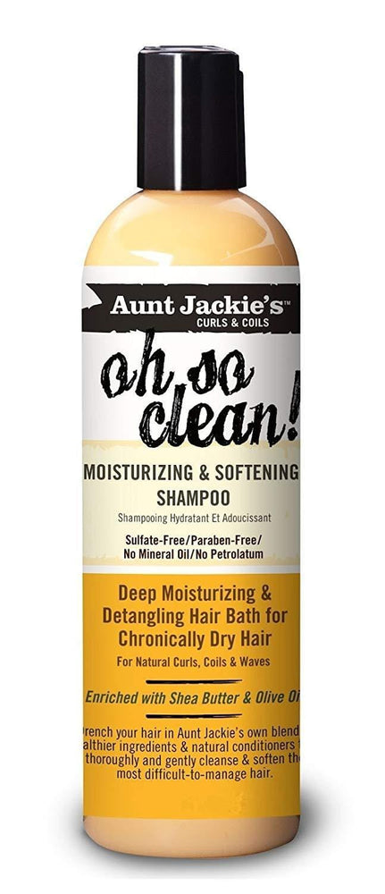 Aunt Jackies Toiletries Aunt Jackie's Oh So Clean Moisturizing & Softening Shampoo, 355ml 34285699123 235775
