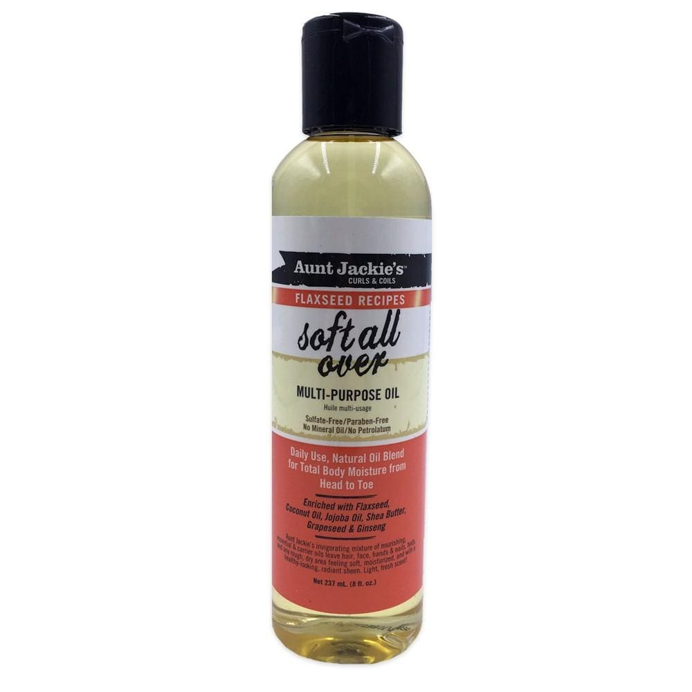 Aunt Jackies Toiletries Aunt Jackie's Flaxseed Soft all over Multi-Purpose Oil, 237ml 34285670085 235781