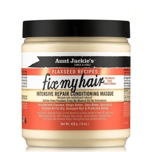 Aunt Jackies Toiletries Aunt Jackie's Flaxseed Recipes Fix My Hair Intensive Repair Conditioning Masque, 436ml 34285675158 235785