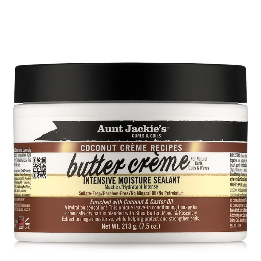 Aunt Jackies Toiletries Aunt Jackie's Coconut Crème Recipes Butter Creme Intensive Moisture Sealant, 228ml 34285687076 235788