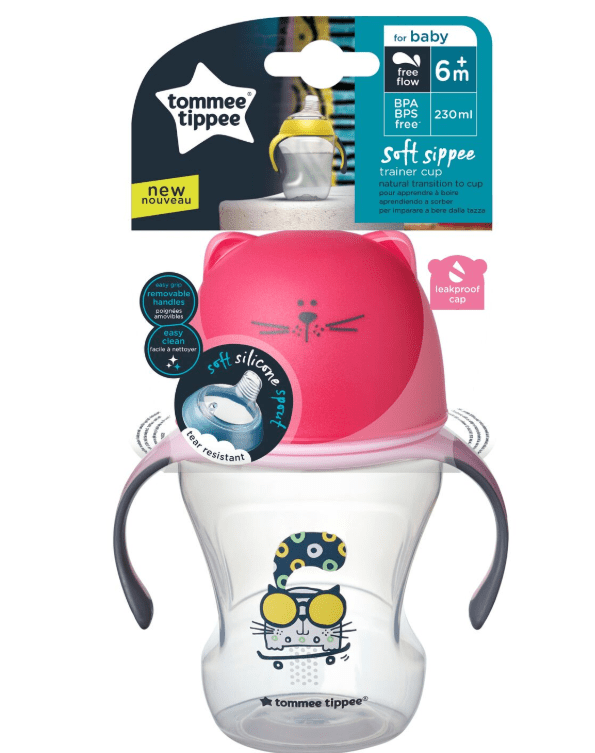 Tommee Tippee Baby Tommee Transition Cup Pink, 230ml 5010415471833 242472