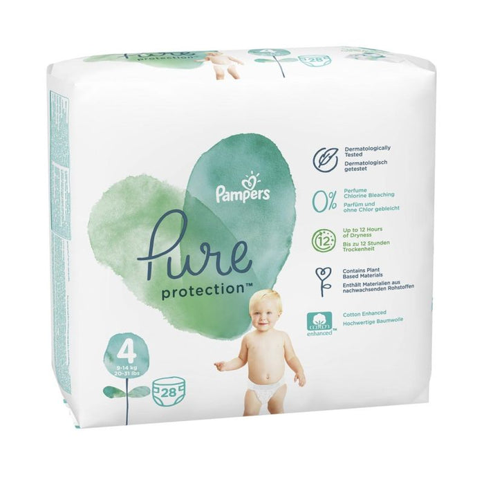 Pampers Pure Nappies Size 4, 28's