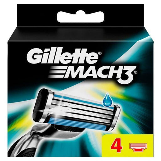 Gillette Toiletries Gillette Mach3 Razor Blades, 4's 3014260243531 45738