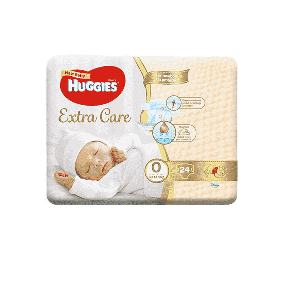 Huggies Extra Care New Baby Size 0, 25's