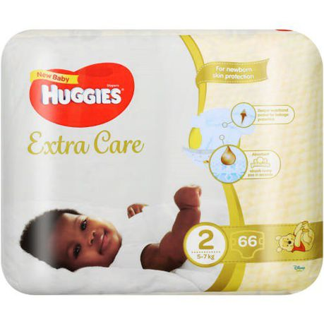 Huggies Extra Care New Baby Size 2 66's