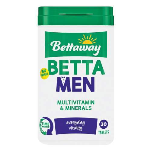 Bettaway Vitamins Bettaway For Men Tabs, 30's 6001860063246 705367001