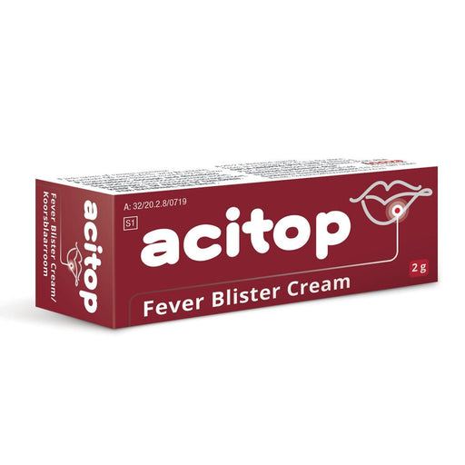 Mopani Pharmacy Dispensary Acitop Fever Blister Cream, 2g 6006352002031 873551001