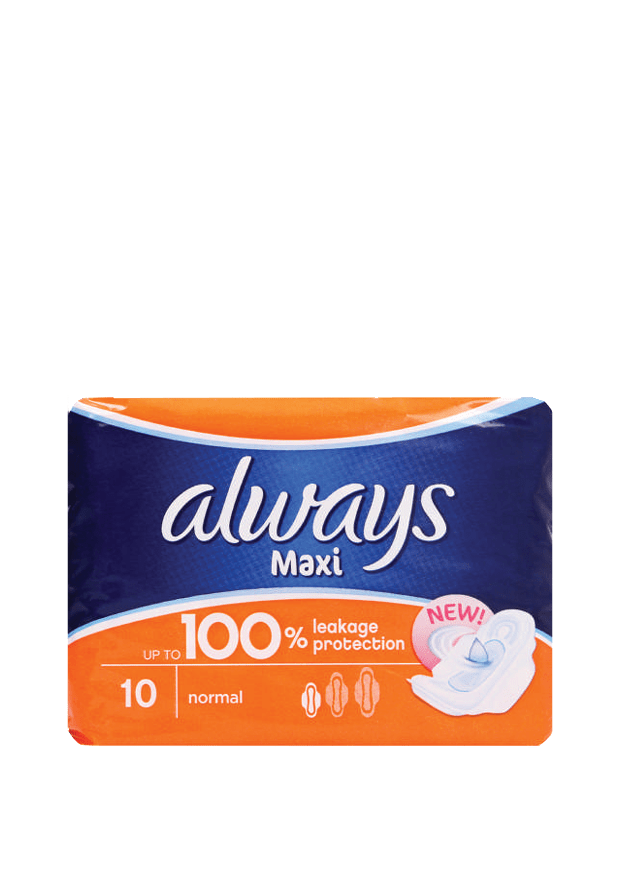Always Maxi Normal Pads, 10's