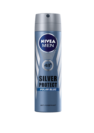 Nivea Toiletries Nivea Anti-Perspirant Deodorant MenSilver Protect Polar Blue 150ml 4005808593972 131982