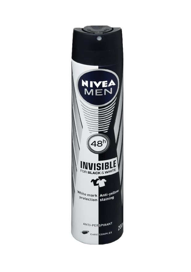 Nivea Toiletries Nivea Anti-Perspirant Deodorant Men Invisible for Black and White 150ml 4005900036483 131984