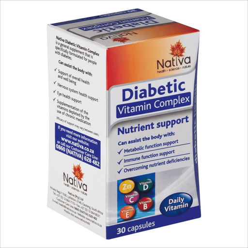 Mopani Pharmacy Vitamins Nativa Diabetic Vitamin Complex Caps, 30's 6009652360207 164723