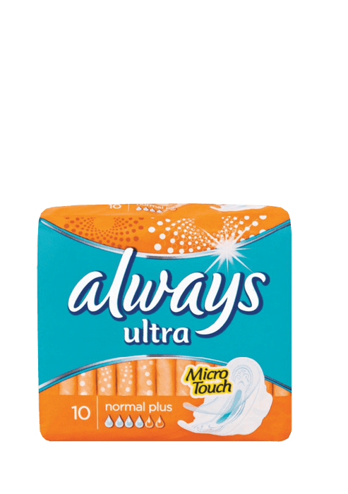 Always Ultra Normal Plus Sanitary Pads, 10's
