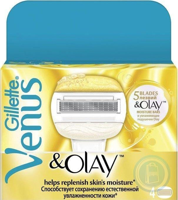 Mopani Pharmacy Toiletries Gillette Venus and Olay Cartridges, 4's 7702018267637 176519