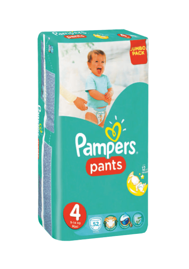 Pampers Active Baby Pants 4 Maxi, 52's