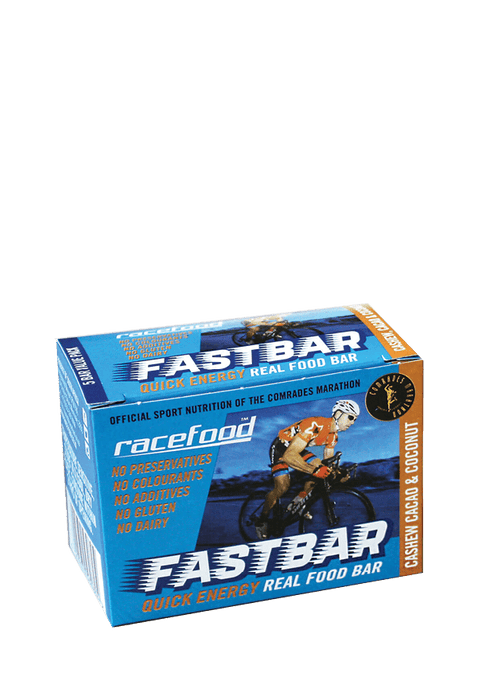 Racefood Sports Nutrition Cashew Cacao & Coconut Racefood Fastbar, 5's 6009670530804 182411