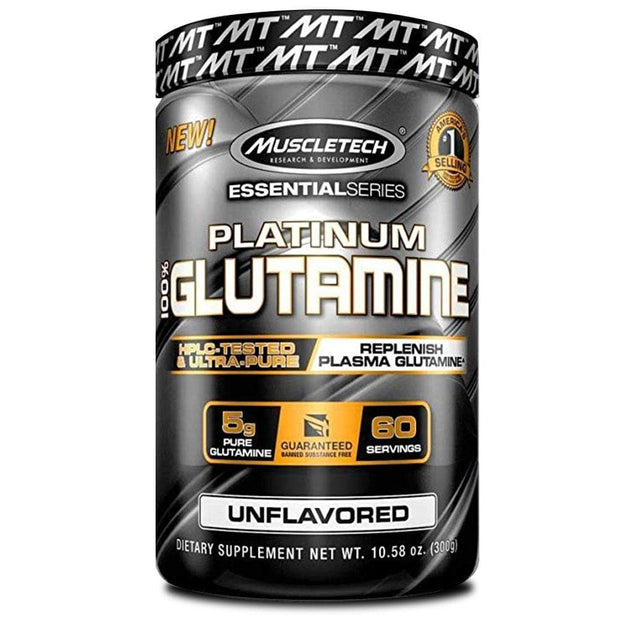 MuscleTech Platinum Glutamine Unflavoured, 300g