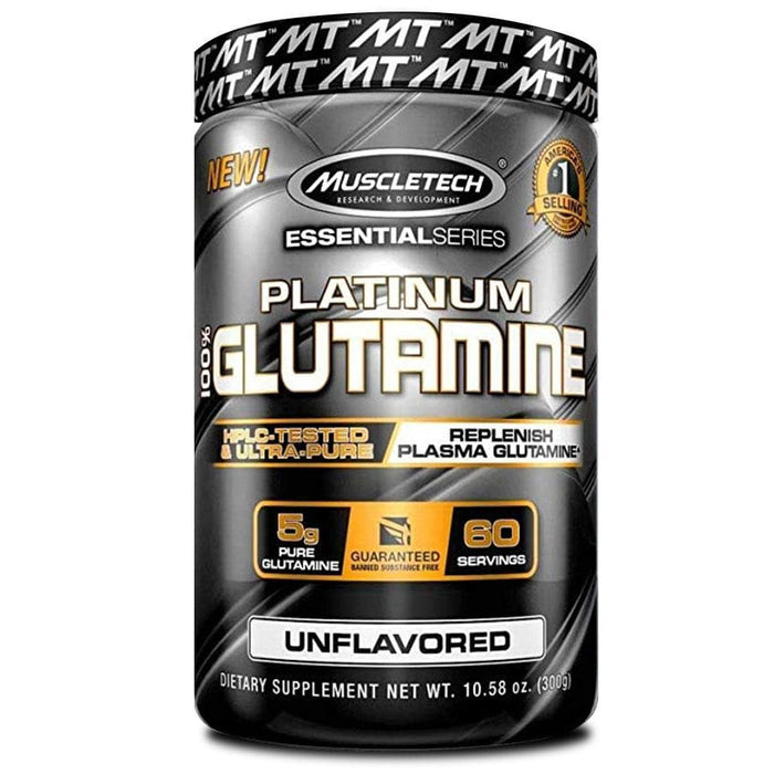 MuscleTech Sports Nutrition MuscleTech Platinum Glutamine Unflavoured, 300g 631656705706 183945