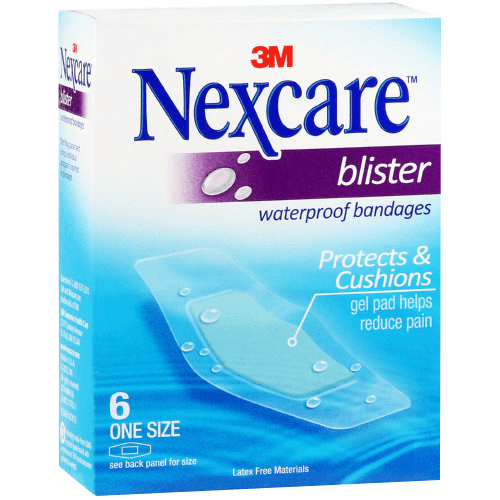 3M Nexcare Blister Waterproof Bandages, 6's