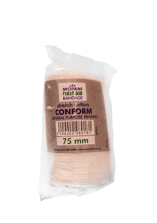 Mopani Pharmacy First Aid Mopani First Aid Bandage Conform, 75mm 2400002080181 208018