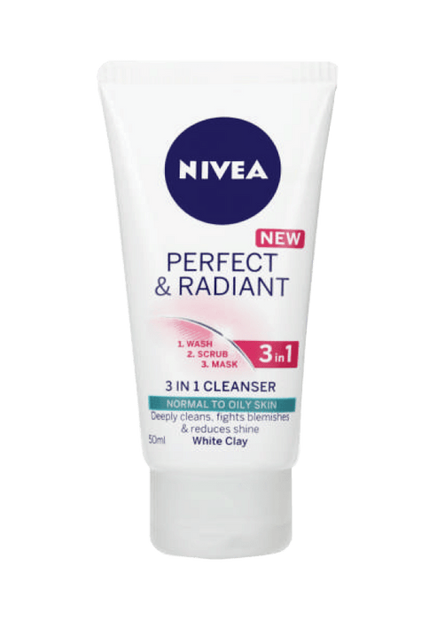 Nivea Cosmetics Nivea Perfect and Radiant 3 in 1 Cleanser, 50ml 6001051002269 212845