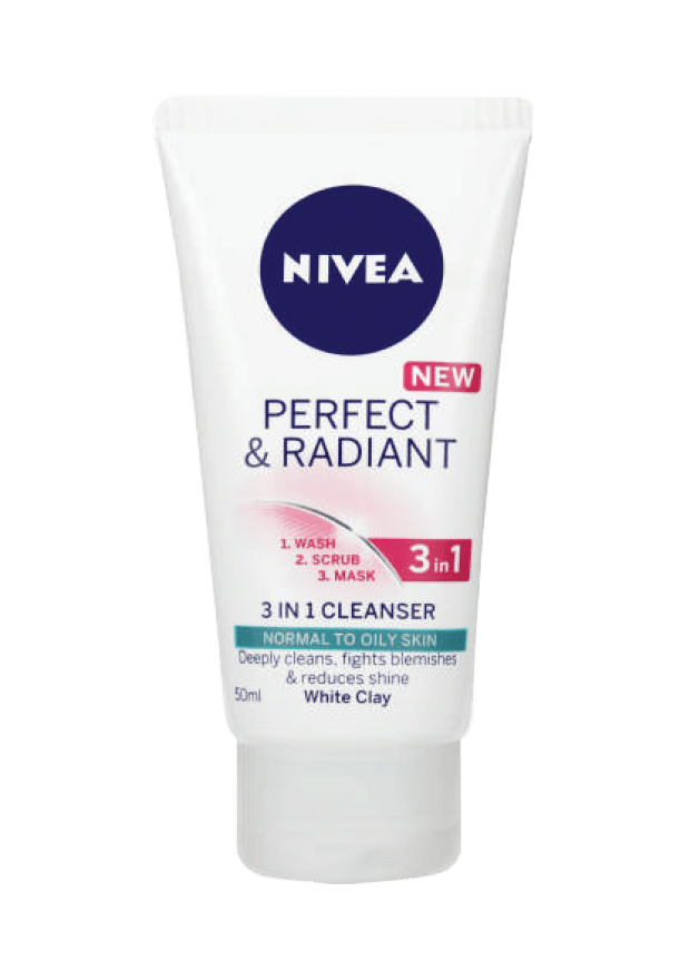 Nivea Perfect and Radiant 3 in 1 Cleanser, 50ml