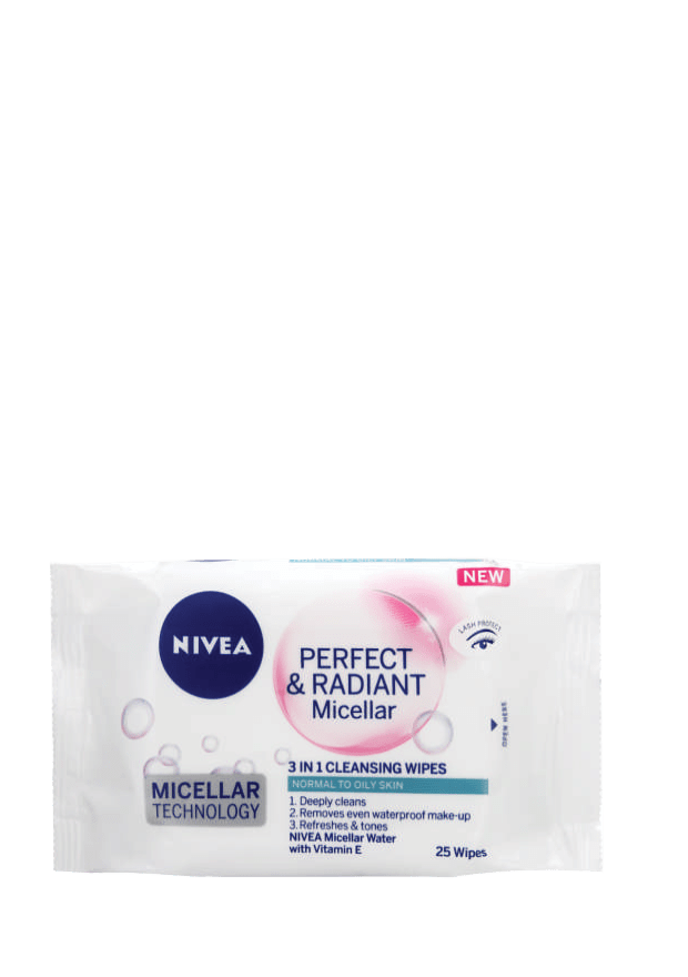 Nivea Perfect and Radiant 3 in 1 Cleansing Wipes, 25's