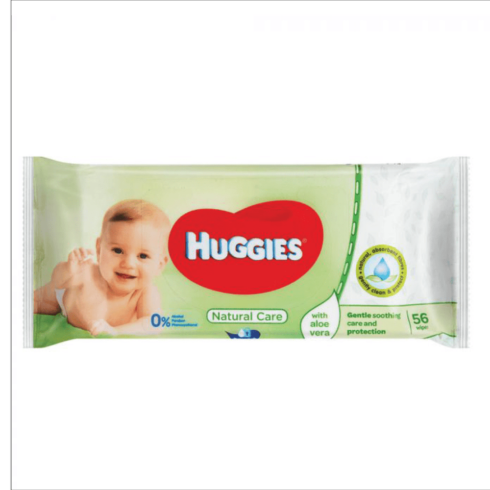 Mopani Pharmacy Baby Huggies Baby Wipes Natural Care 56's 5029053550152 214150