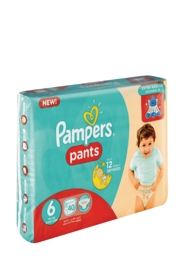Pampers Active Baby Pants 6 Extra Large, 40's