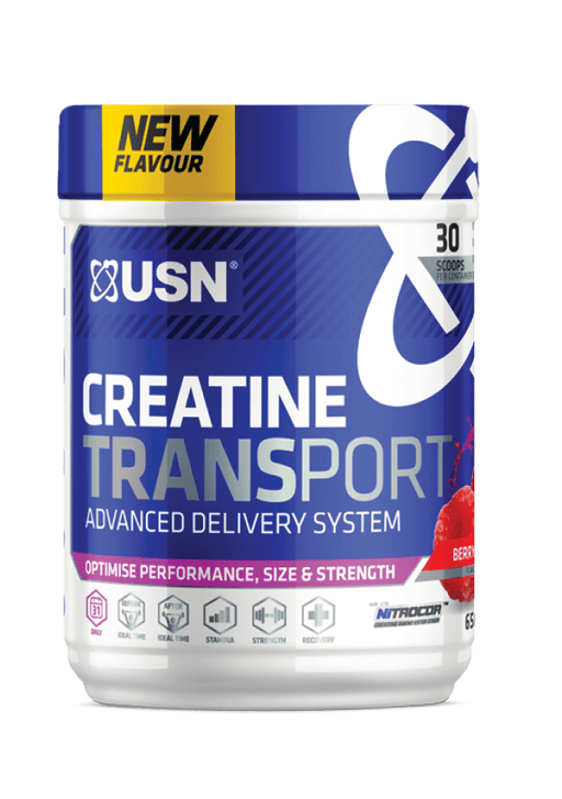 USN Sports Nutrition Berry Kick USN Creatine Transport, 650g, Various Flavours 6009544904847 218967