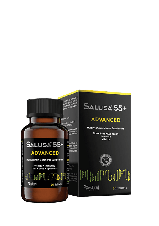 Salusa 55+ Advanced Multivitamin and Mineral Supplement Tabs, 30's