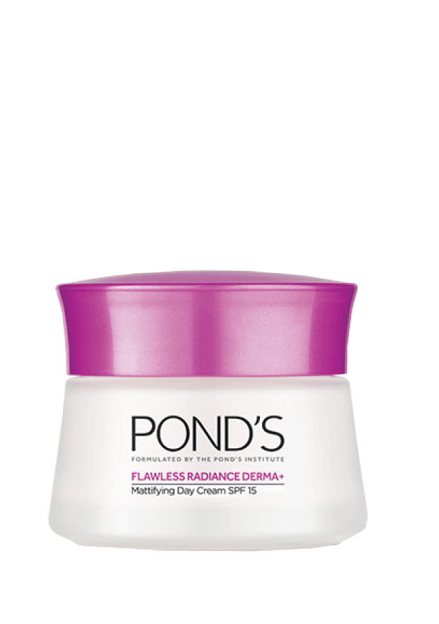 Pond's Flaweless Radiance Derma+ Mattifying Day Cream SPF15, 50ml