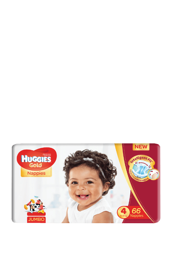 Huggies Gold Nappies Size 4, 66's