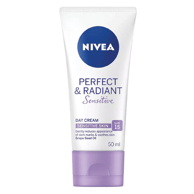 Nivea Perfect & Radiant Day Cream Sensitive SPF15, 50ml