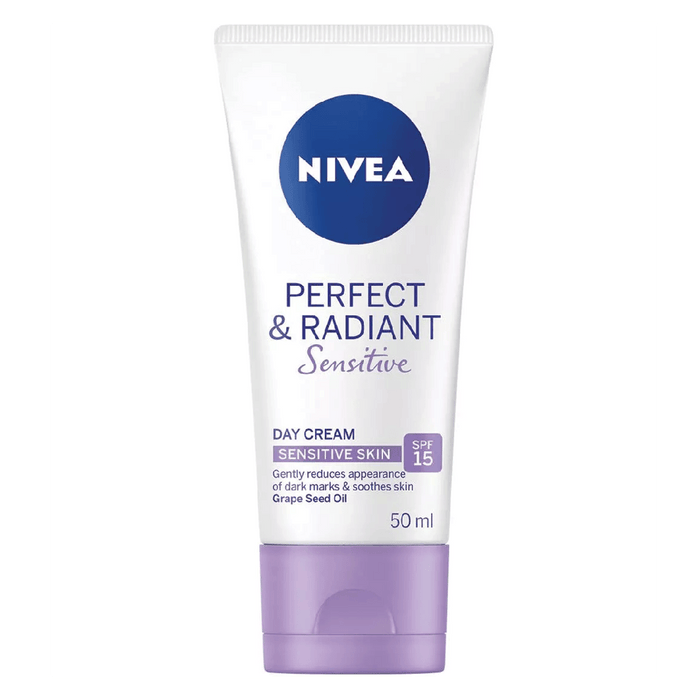 Nivea Skin Care Nivea Perfect & Radiant Day Cream Sensitive SPF15, 50ml 6001051002917 224236