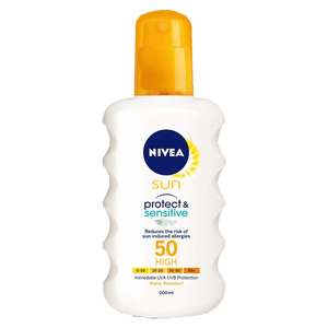 Nivea Sun & Tan Nivea Sun Protect and Sensitive Sun Spray SPF50, 200ml 4005900121097 224239