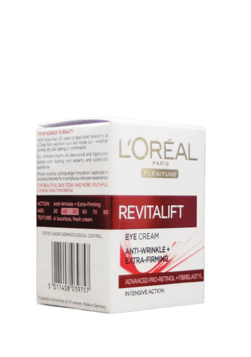 L'Oréal Revitalift Eye Cream, 15ml