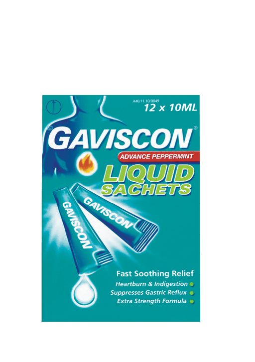 Mopani Pharmacy Dispensary Gaviscon Advance Peppermint Sachets, 12's 6001106120498 711145001