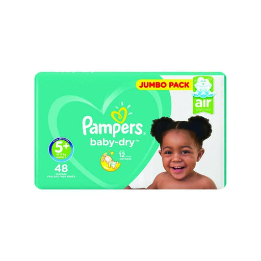 Pampers Baby Pampers Active Baby-Dry Size 5+ Jumbo Pack, 48's 8001841070605 231427