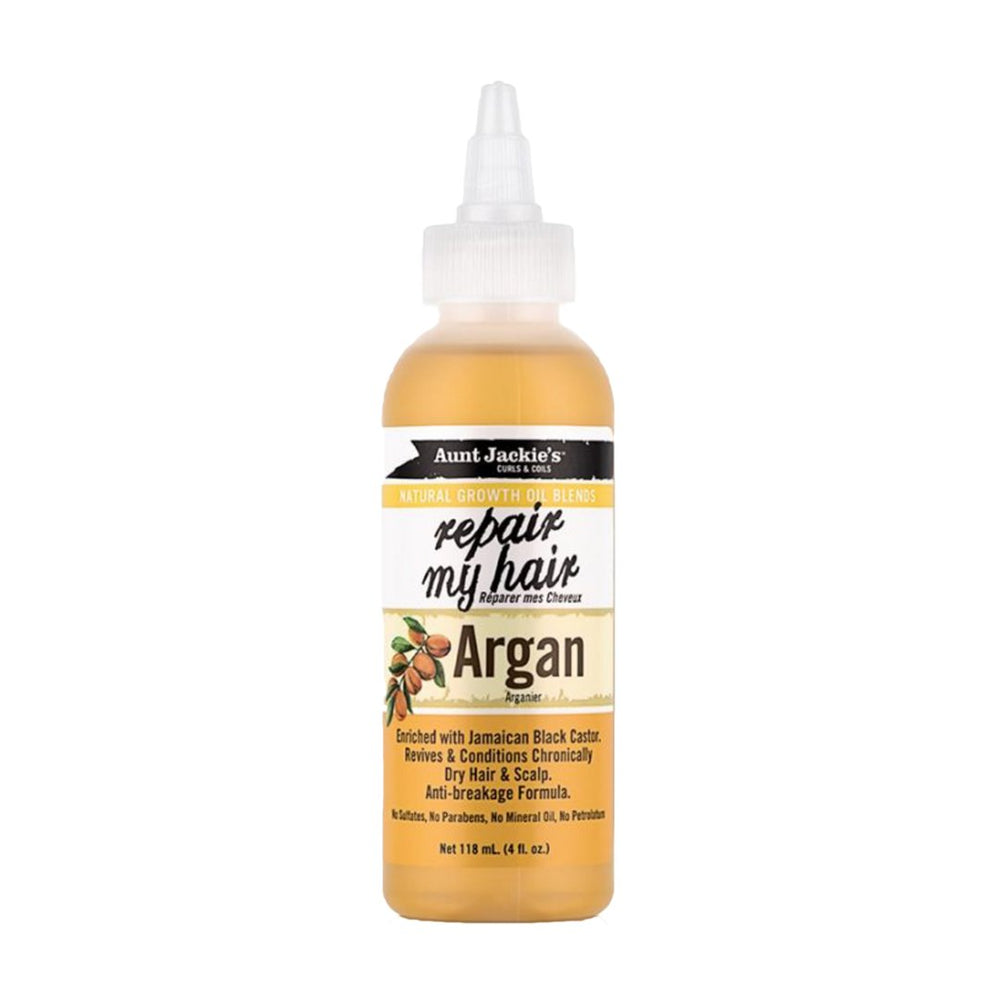 Aunt Jackie's Repair My Hair Natural Growth Argan Oil, 118ml
