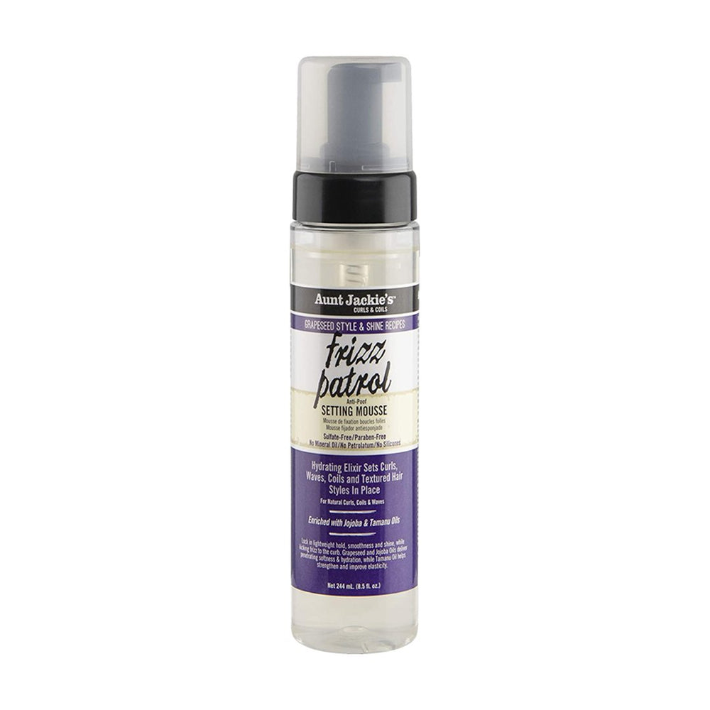 Aunt Jackie's Frizz Patrol Grapeseed Twist & Curl Setting Mousse, 244ml